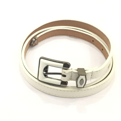 Sir Michele Women Casual White Artificial Leather Belt