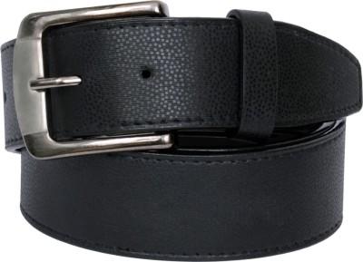The Brandstand Men Casual Black Texas Leatherite Belt