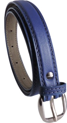 Elligator Women Casual, Formal, Party Blue Artificial Leather Belt