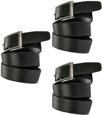 Fastfox Men Casual, Formal, Evening, Party Black Genuine Leather Belt