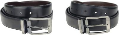 Genious Men Formal, Casual Brown, Black Genuine Leather Reversible Belt