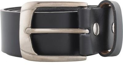 WCL Men Formal Black Genuine Leather Belt