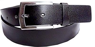 Manshkhino Men Formal Black Genuine Leather Belt  available at flipkart for Rs.850