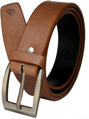 Fashius Men Tan Artificial Leather Belt Fashius Belts