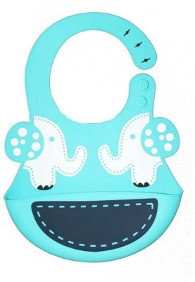 Coddle Coddle Baby Silicon Scoop Bib(Light Blue) at flipkart