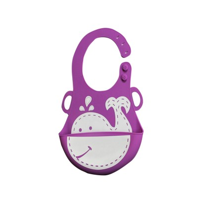 Coddle Coddle Baby Silicon Scoop Bib(Light Purple) at flipkart