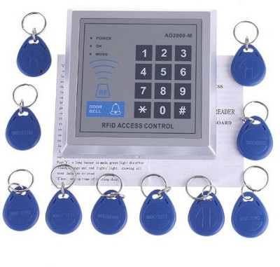 Divinext Ad2000-M Rfid Proximity Entry Lock Door System+10 Keyfobs Access Control(Card)  available at flipkart for Rs.2029