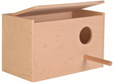 PetNest Budgie bird and Love bird breeding nest box Bird House(Wall Mounting, Free Standing)