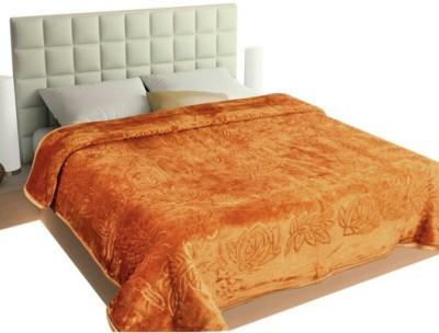 N Decor Plain Double Blanket Golden(1 Blanket)
