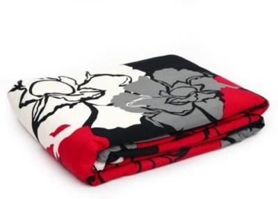 V Brown Floral Single Dohar Multicolor(AC Dohar, 1 Single Bed Dohar)