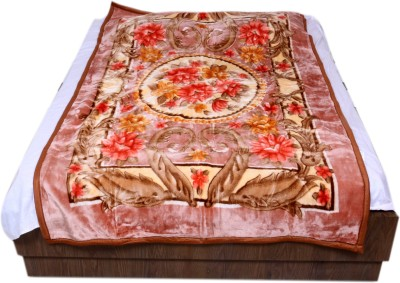 IndiStar Floral Single Blanket Brown(Mink Blanket) at flipkart