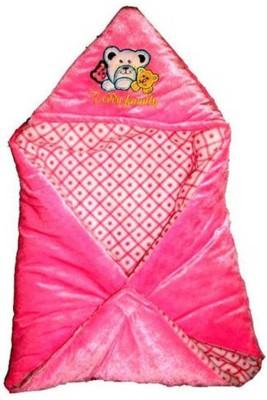 Gargshope Cartoon Crib Coral Blanket(Polyester, Pink)