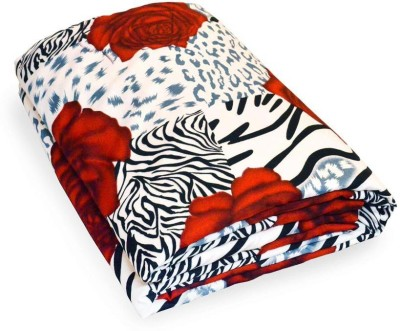 Bright Cotton Floral Single Blanket(Mirco, Royal White)