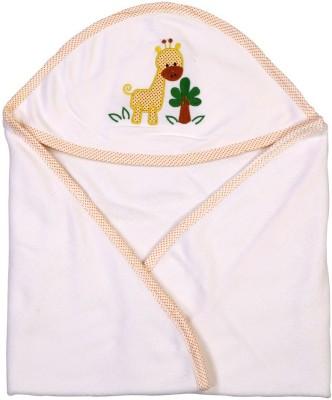 Brim Hugs & Cuddles Solid Crib Hooded Baby Blanket(Cotton, Beige)