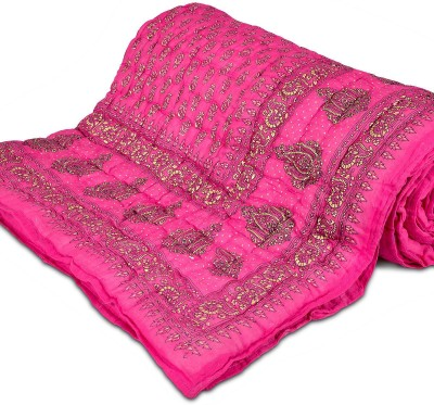 Aastha Floral Double Comforter(Cotton, Pink) at flipkart
