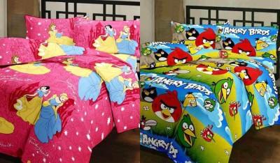 Furry Printed Single Blanket Multicolor(2 Blanket)