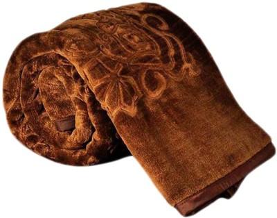 Ganga Plain Double Blanket Brown