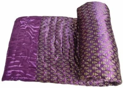 Bigshoponline Floral Single Comforter(Microfiber, Purple) at flipkart