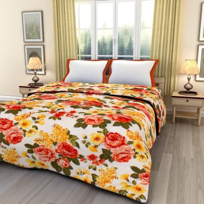 eCraftIndia Floral Double AC Blanket(Poly Cotton, Multicolor) at flipkart