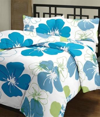 Blanket Zone Floral Single Dohar White, Blue(AC Blanket) at flipkart