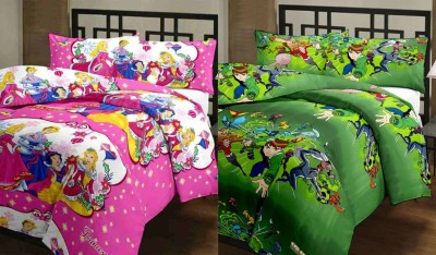 Furry Printed Single Blanket Multicolor(2 Blanket) at flipkart