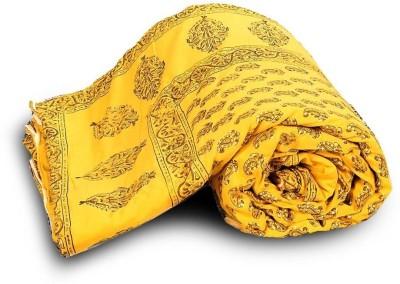 Indigocart Paisley Double Quilts & Comforters Yellow(1 Double Bed Quilt) at flipkart