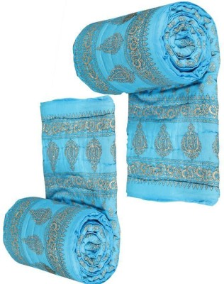 VR ENTERPRISES Polka Single Quilts & Comforters Multicolor(Jaipuri Razai) at flipkart