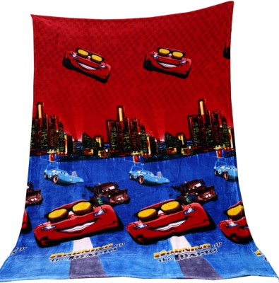 Tima Cartoon Single AC Blanket(Polyester, Red)
