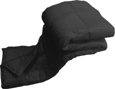 Zikrak Exim Checkered Double Quilts & Comforters Black(Dohar) at flipkart