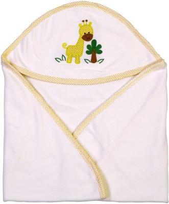 Brim Hugs & Cuddles Solid Crib Hooded Baby Blanket(Cotton, Yellow)