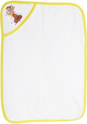 Chhota Bheem Cartoon Single Hooded Baby Blanket(Cotton, White)