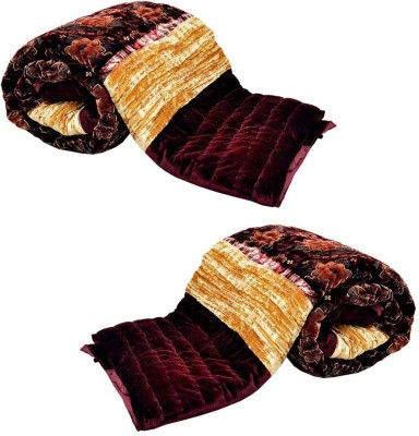 Indian Gift Emporium Damask Double Quilts & Comforters Maroon(2 Double Bed Quilt) at flipkart