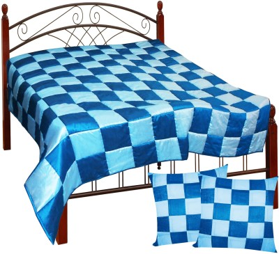 Zikrak Exim Checkered King Quilts & Comforters Red, Black(Quilt and 2 cushion covers) at flipkart