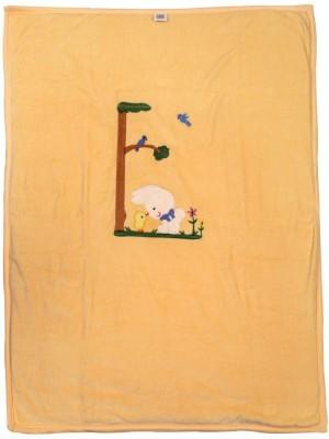 Brim Hugs & Cuddles Embroidered Crib Blanket(Cotton, Beige)