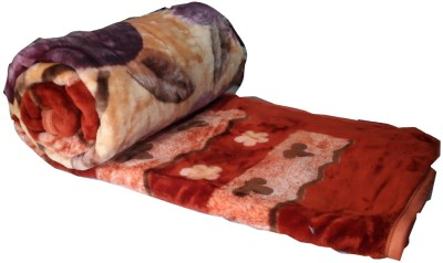 Snuggle Floral Double Quilts & Comforters Multicolor(Double Mink Blanket) at flipkart