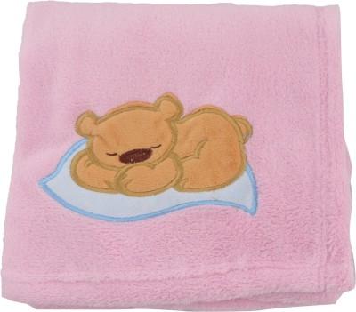 Belle Maison Embroidered Single Top Sheet Pink(Blanket)