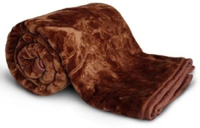 NK Handlooms Checkered Single Blanket Brown(Mink Blanket) at flipkart