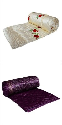 Chelsi Embroidered Double Quilts & Comforters Multicolor(2 Ac Comforter) at flipkart