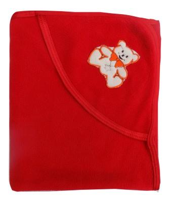 Gargshope Solid Crib Coral Blanket(Microfiber, Red)