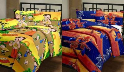 Furry Printed Single Blanket(MultiCotton, Multicolor)