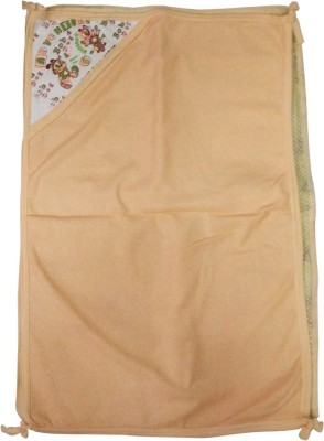Golddust Floral Double Hooded Baby Blanket(Microfiber, Orange)