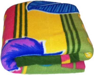 Livingcreation Printed Double Blanket Multicolor(Fleece Blanket, Blanket)  available at flipkart for Rs.249