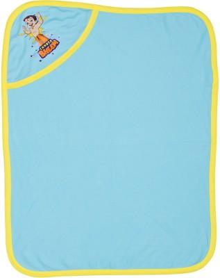 Chhota Bheem Cartoon Single Hooded Baby Blanket(Cotton, Blue)