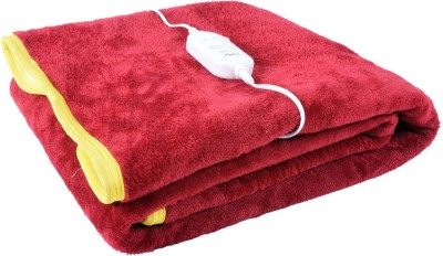 Super India Plain Single Electric Blanket Red(1 Blanket)  available at flipkart for Rs.899