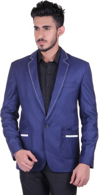Protext Solid Single Breasted Casual, Festive, Formal, Lounge Wear, Party, Sports, Wedding Men's Blazer(Blue)
