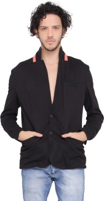 LUCfashion Solid Single Breasted Casual Men's Blazer(Black)  available at flipkart for Rs.845