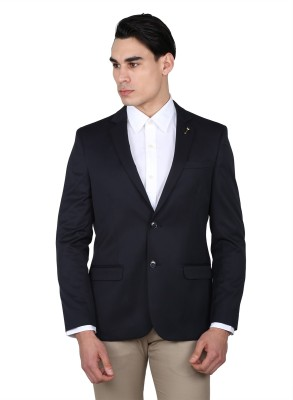 Arrow Solid Single Breasted Casual Men Blazer(Blue) at flipkart