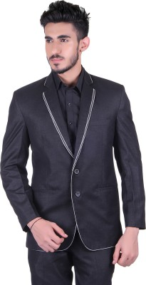 Protext Solid Single Breasted Casual, Festive, Formal, Lounge Wear, Party, Sports, Wedding Men's Blazer(Black)
