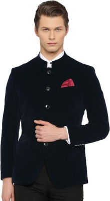 Invictus Solid Single Breasted Formal Men Blazer(Dark Blue) at flipkart