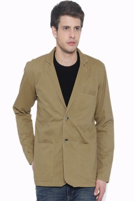Fifty Two Solid Single Breasted Casual Men's Blazer(Brown)  available at flipkart for Rs.1497